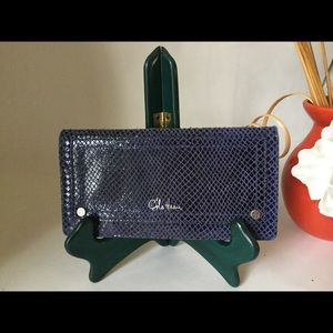 Cole Haan Snakeskin Embossed wallet Clutch